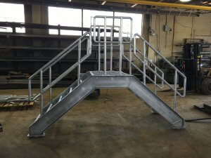 Staircase with railing